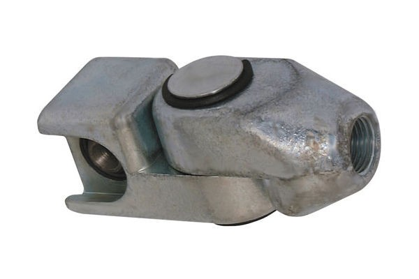 Swivel coupler for button-head M1 head-ø16mm DIN3404