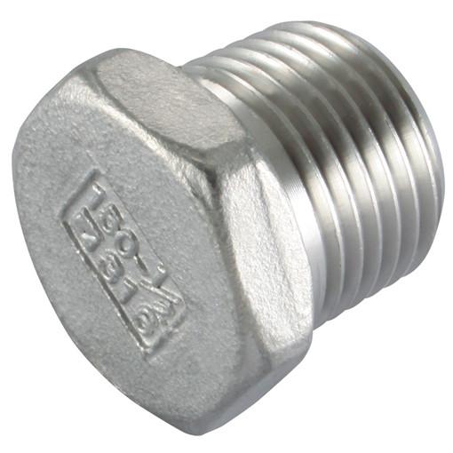 Closing plug outer hexagon, AISI316