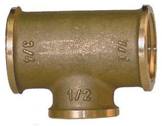 Tee-piece-3x female thread BSP cylindric - reducing