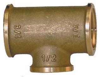 T-Stück-3 x Innengewinde BSP zylindrisch - reduzierend
