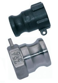 Cam & Groove plug for mortar socket with female thread