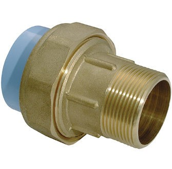 GIRAIR 3 Piece Unions male thread brass