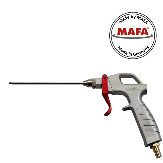 MAFA blow out gun die-cast aluminum, with blowing extension 150mm, nozzle opening ø2mm