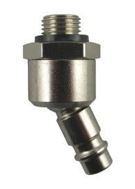 Coupler plug NW7.2 Type26, male thread G1/4, 360°rotary/pivoting range 40°